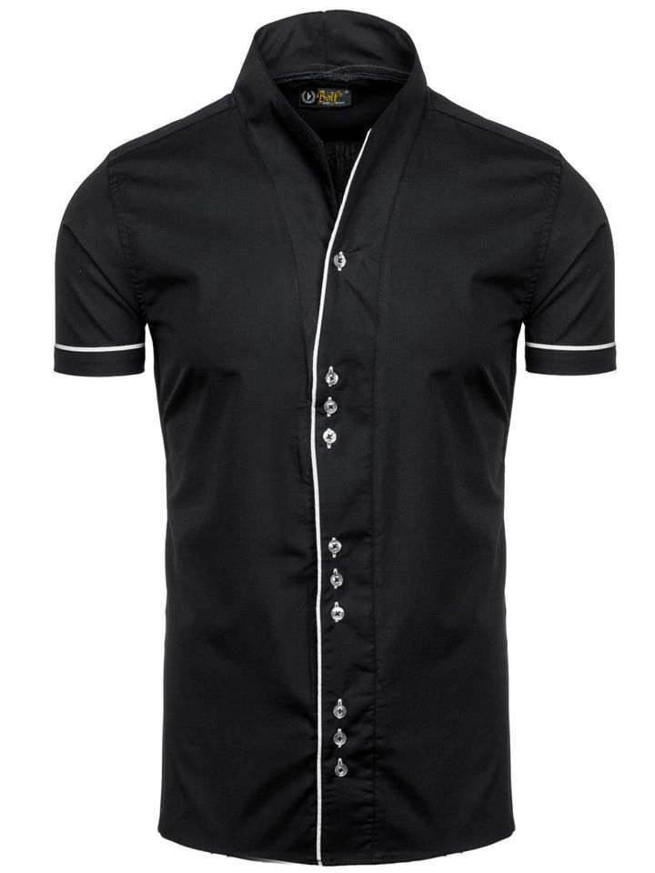 Pánská košile BOLF 5518 černá