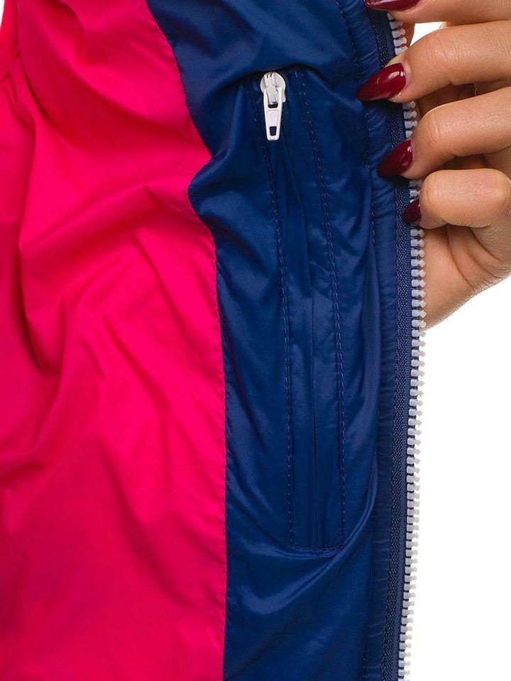 Tmavě modrá dámská vesta Bolf 7054