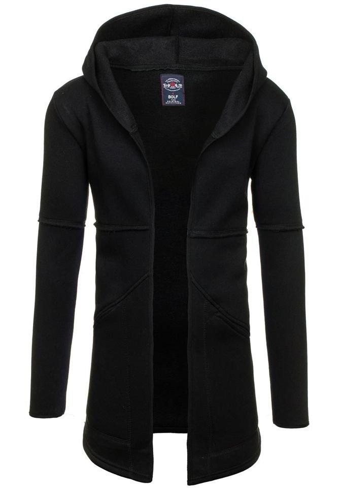 Černá pánská mikina s kapucí Bolf 9115