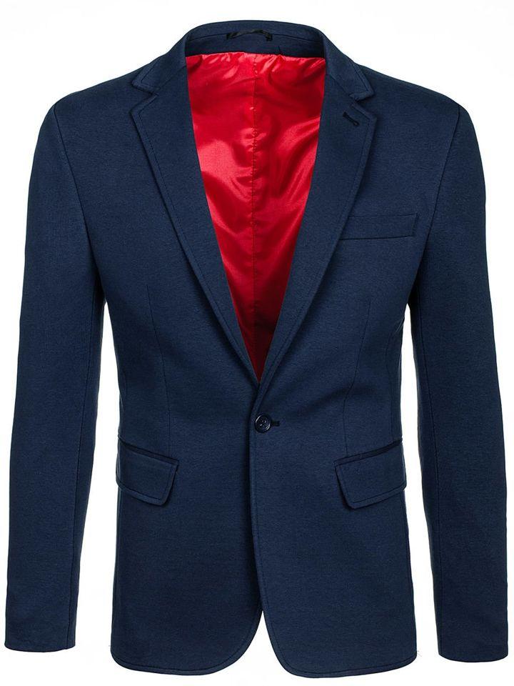Tmavě modré pánské elegantní sako Bolf 430