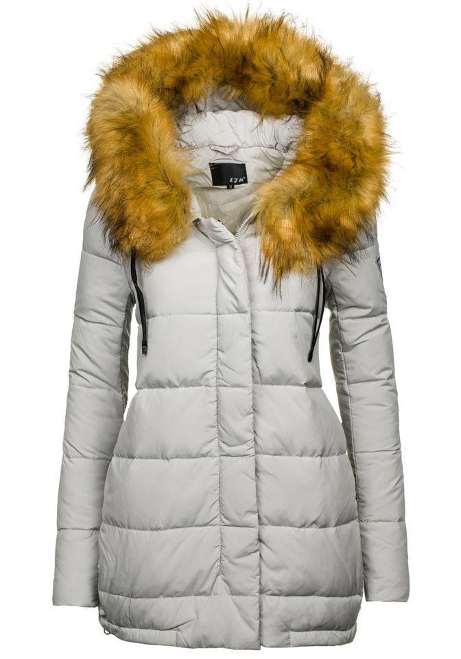 Šedá dámská zimní bunda Bolf 8062