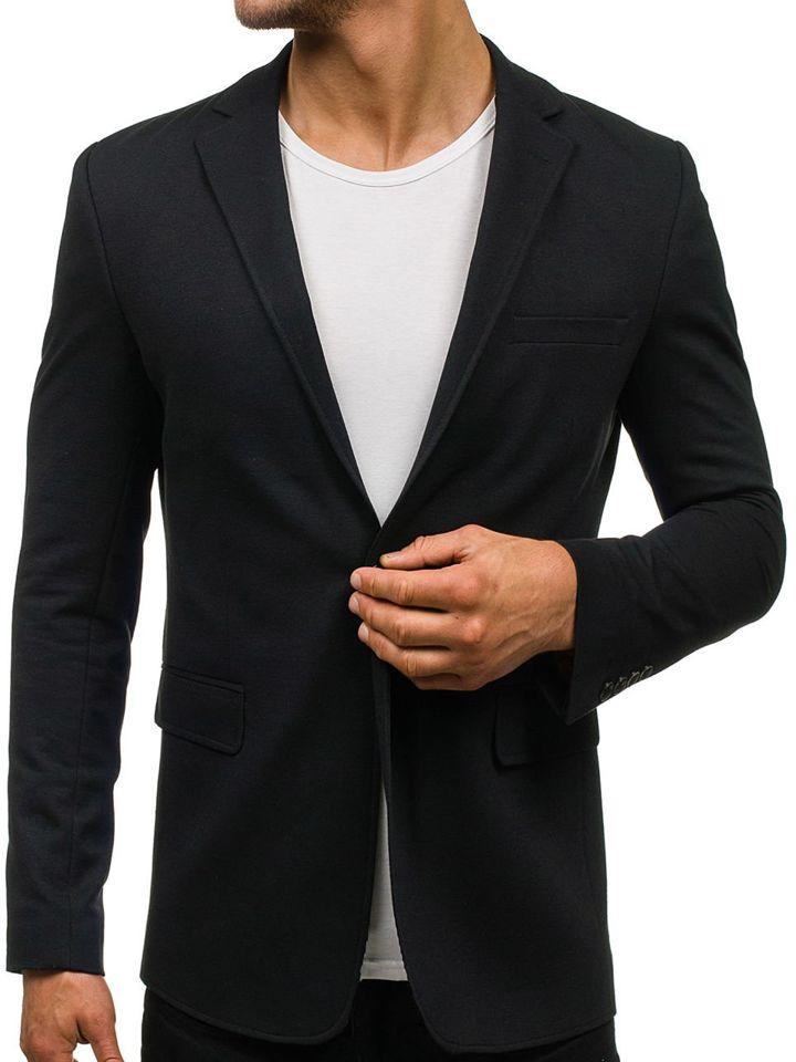 Černé pánské elegantní sako Bolf 430