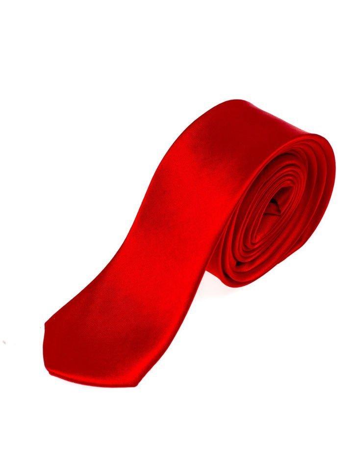 Červená pánská elegantní kravata Bolf K001