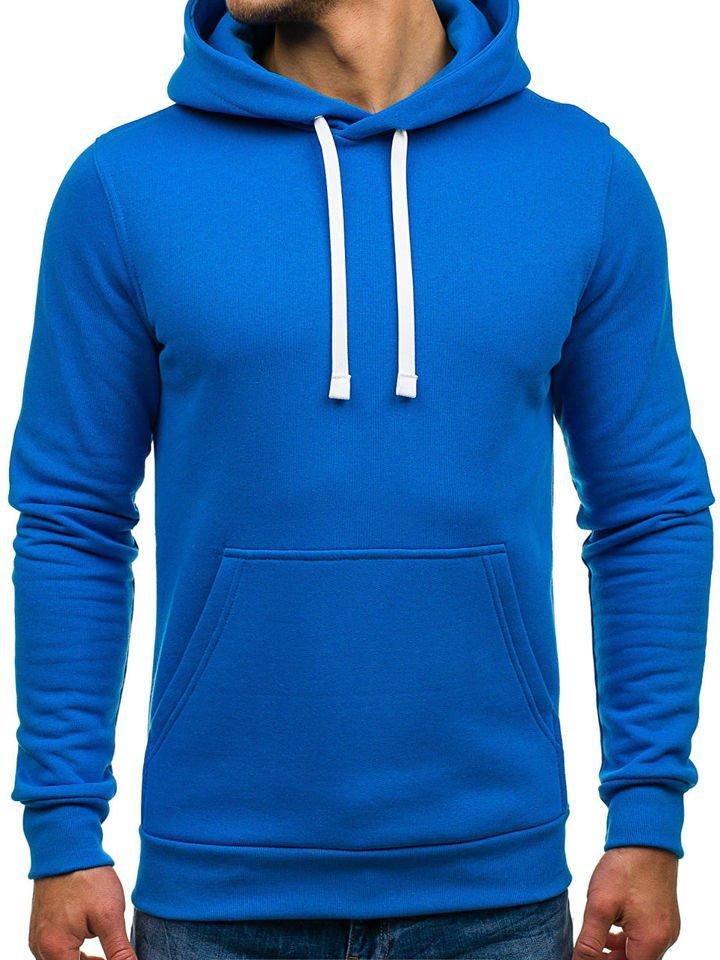 Modrá pánská mikina s kapucí Bolf 02