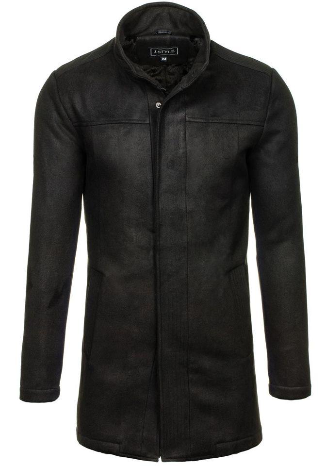 Pánský černý zimní kabát Bolf 3132