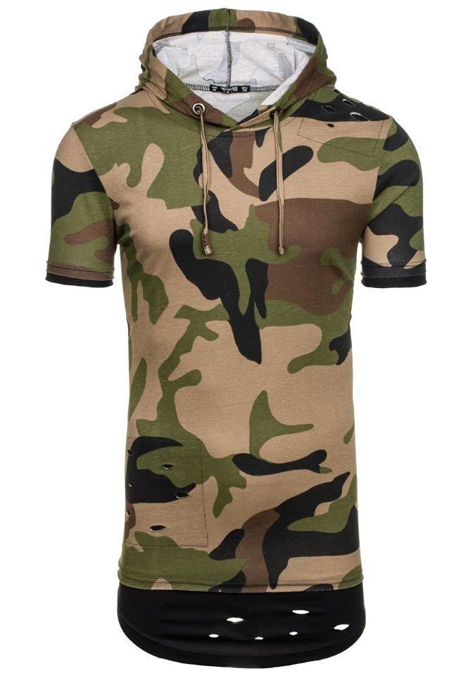 Zelené pánské tričko Bolf 1055