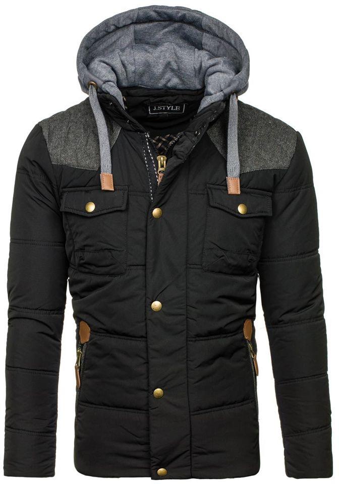 Černá pánská zimní bunda Bolf 3078
