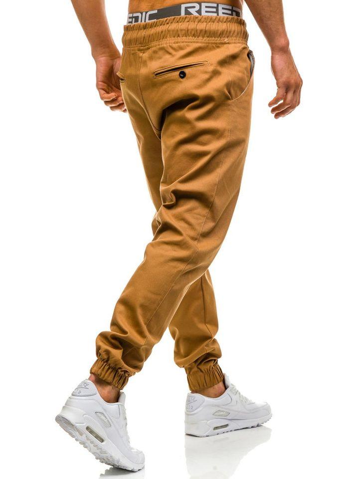 Hnědé pánské baggy kalhoty Bolf 0399