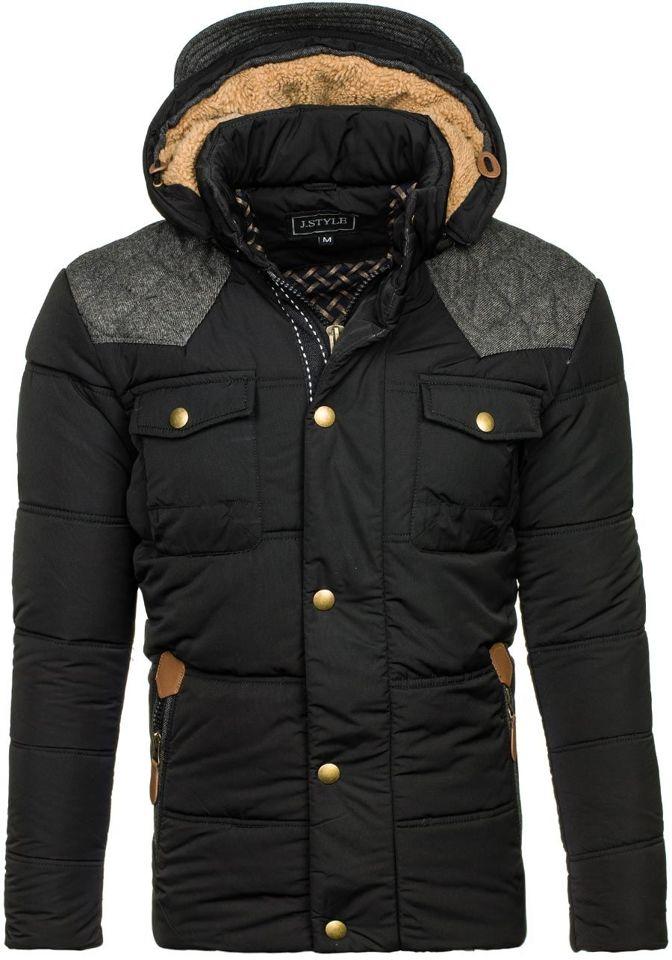 Černá pánská zimní bunda Bolf 3077