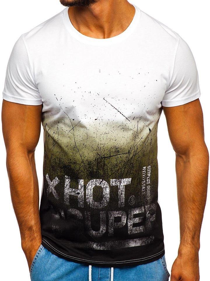Černé pánské tričko s potiskem Bolf 100767