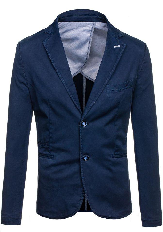 Pánské tmavě modré sako casual Bolf 066