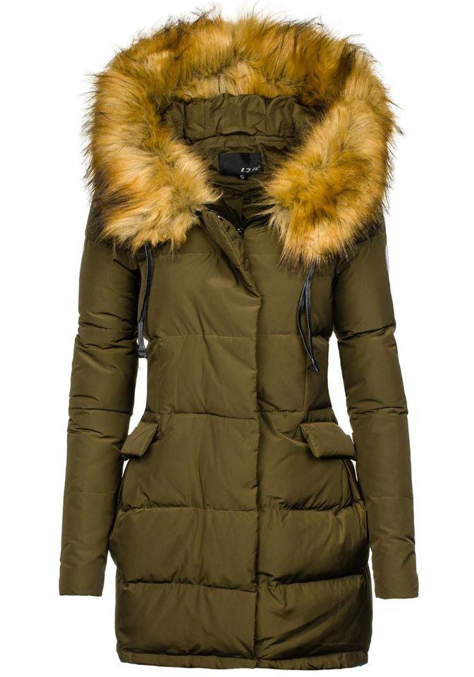 Khaki dámská zimní bunda Bolf 8065