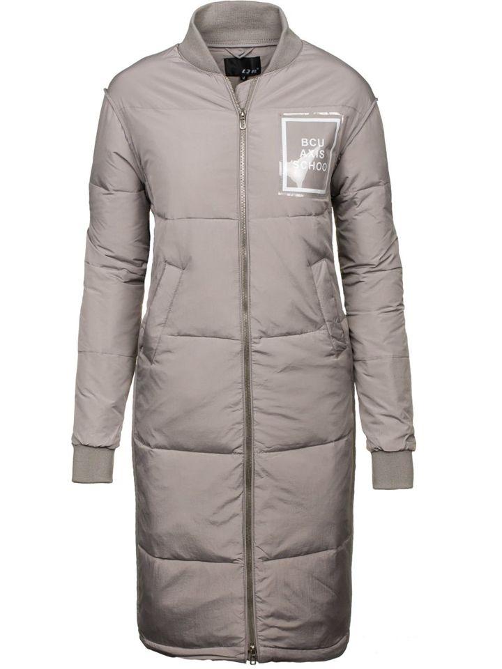 Šedý dámský zimní kabát Bolf 8068