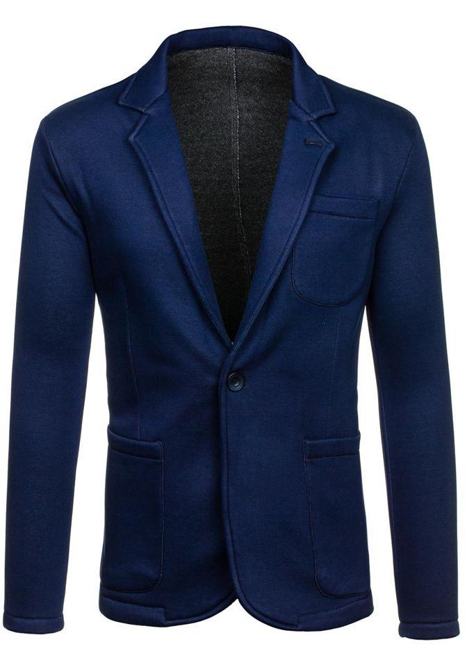 Pánské tmavě modré sako casual Bolf 013