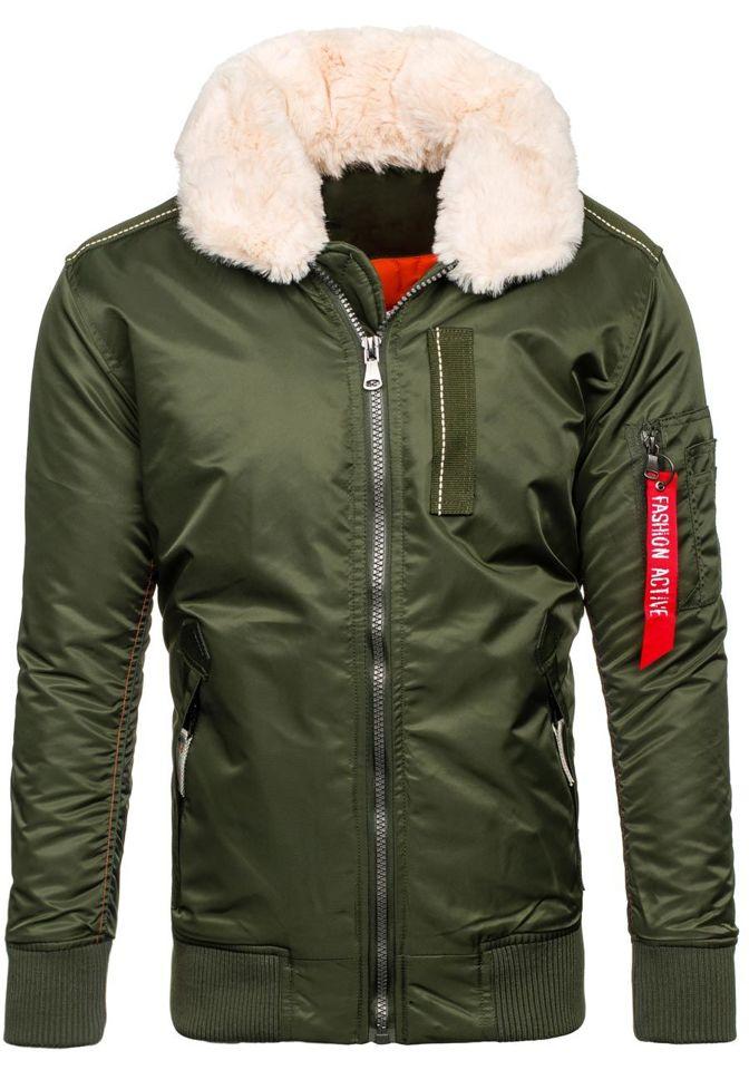 Zelená pánská zimní bunda Bolf 3170