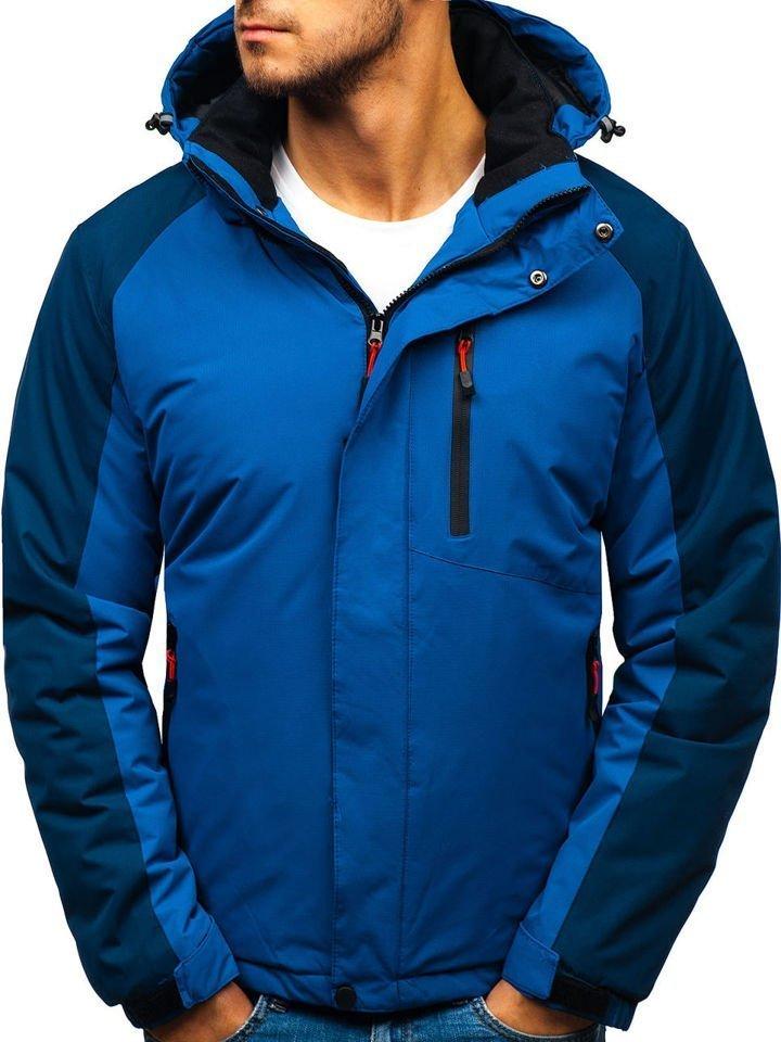 Modrá pánská zimní bunda Bolf HZ8102