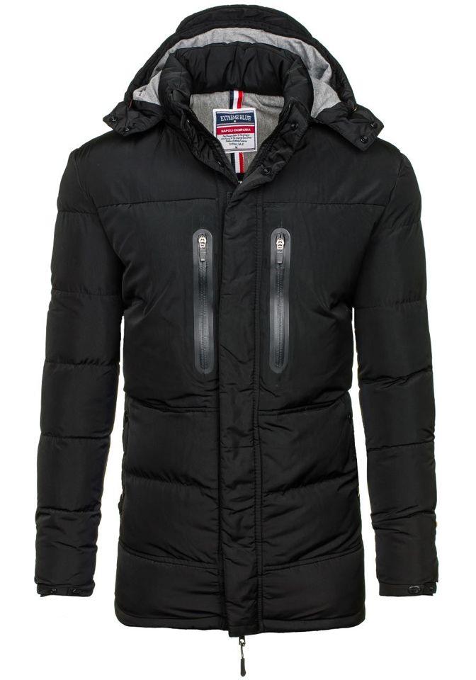 Černá pánská zimní bunda Bolf 1669