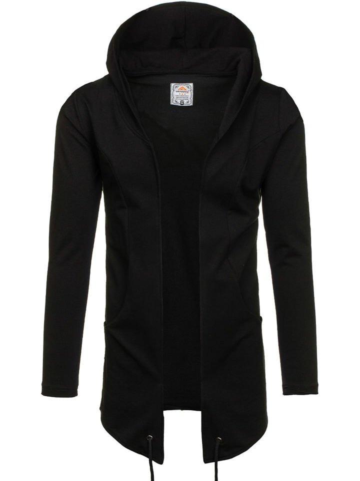 Černá pánská mikina s kapucí Bolf 0790