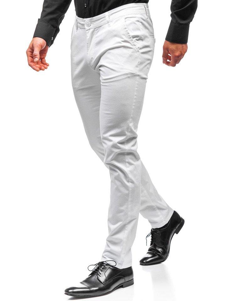 Bílé pánské chino kalhoty Bolf 2901