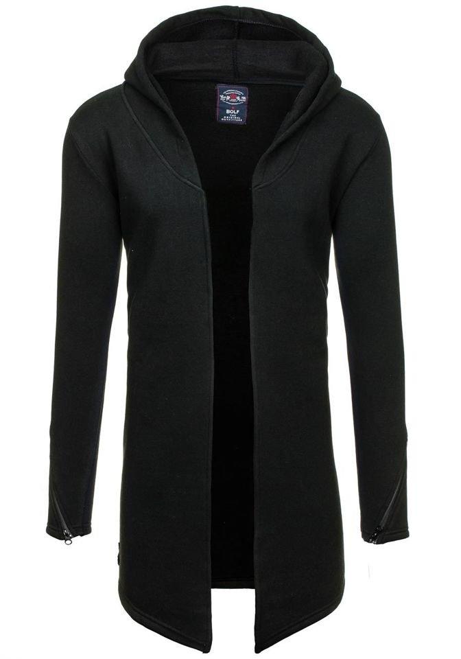 Černá pánská mikina s kapucí Bolf 9118