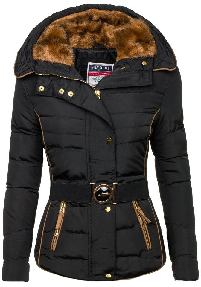Černá dámská zimní bunda Bolf 11