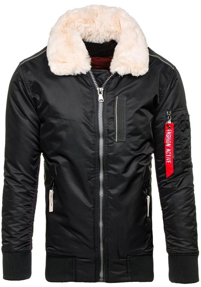 Černá pánská zimní bunda Bolf 3170