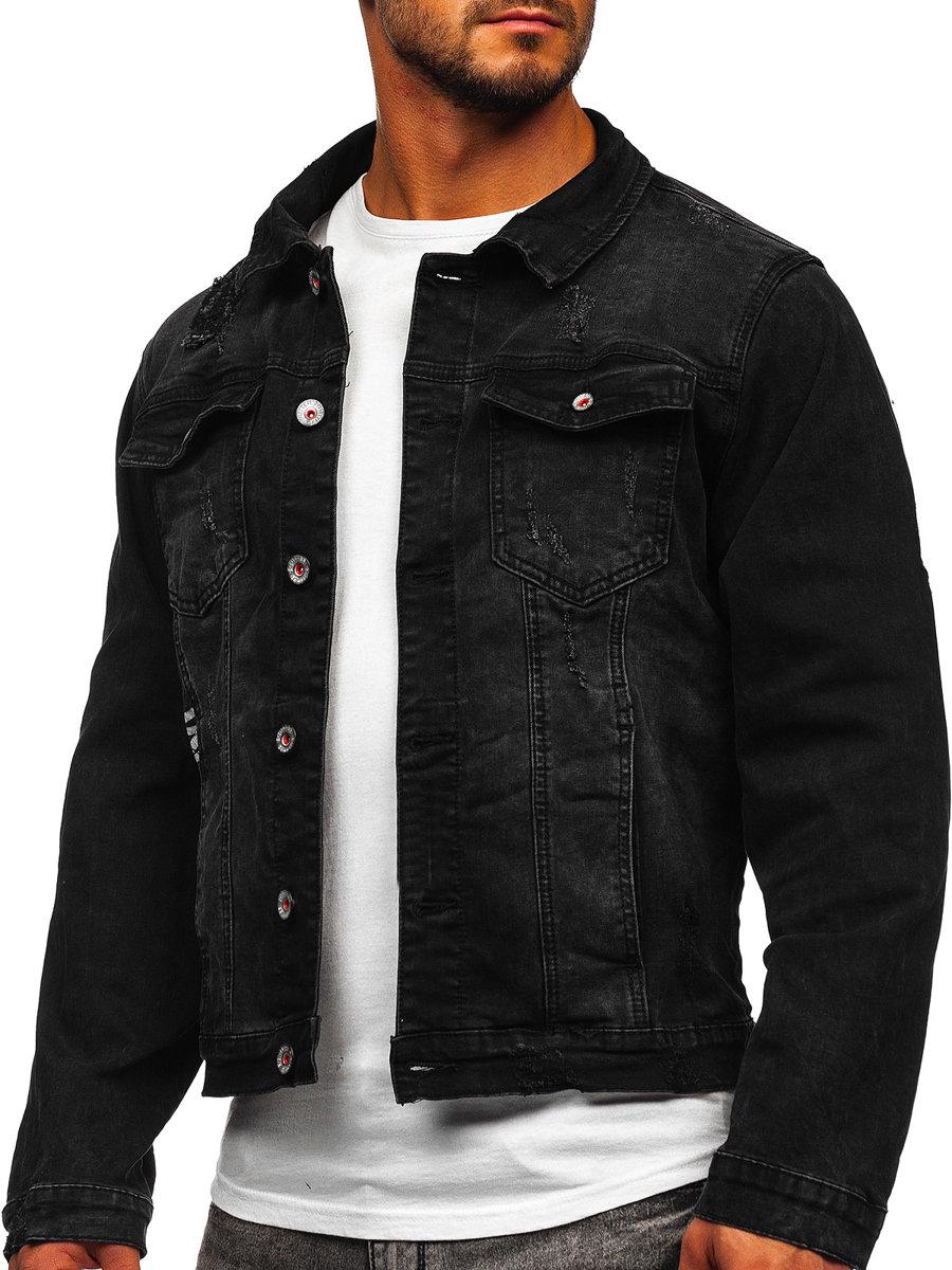 Černá pánská džínová bunda Bolf RC61079S0