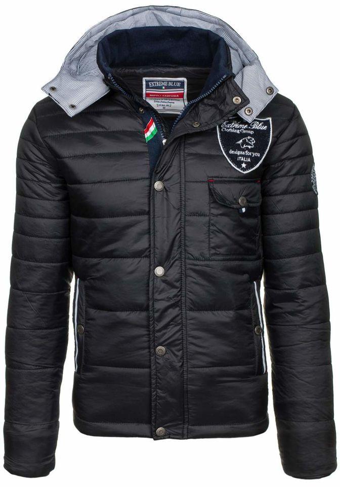 Černá pánská zimní bunda Bolf 77