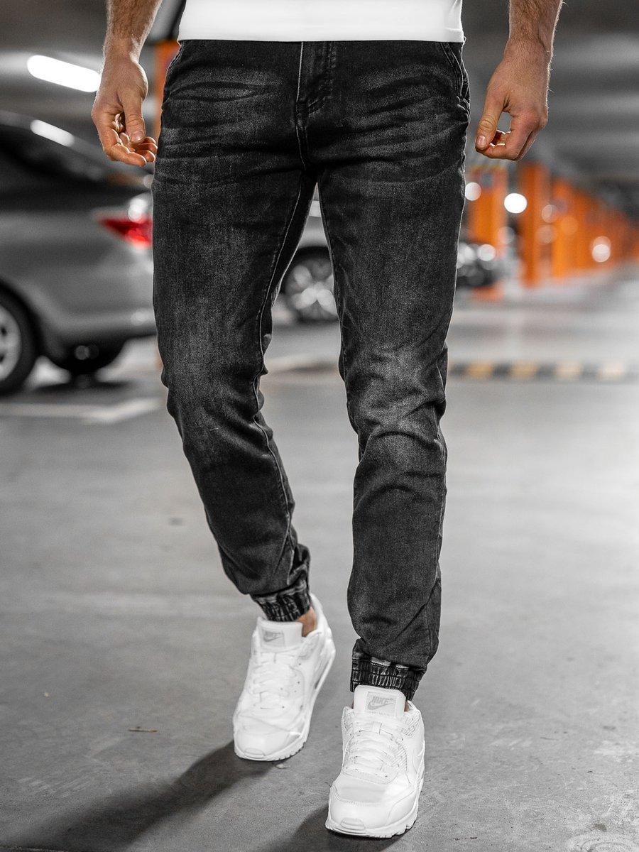 Levně Černé pánské džínové jogger kahoty Bolf 31002W0