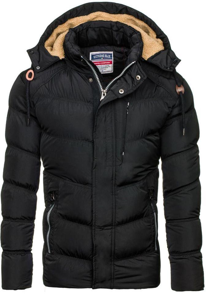Černá pánská zimní bunda Bolf 1664