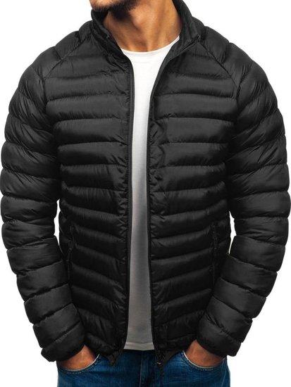 bb2c93d9c1 Černá pánská sportovní zimní bunda Bolf SM53-A