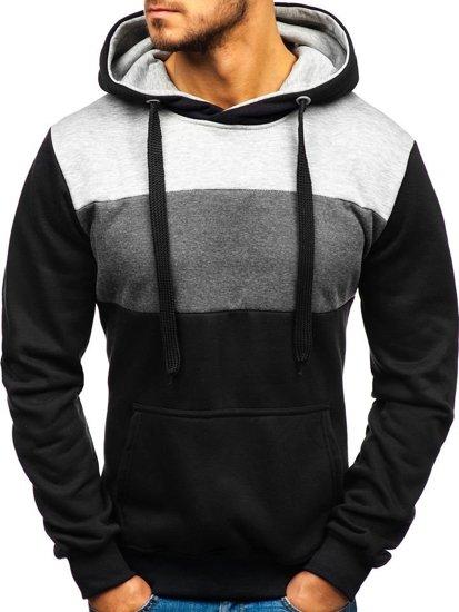 Černá pánská mikina s kapucí Bolf TR05 00fe1bd0ba